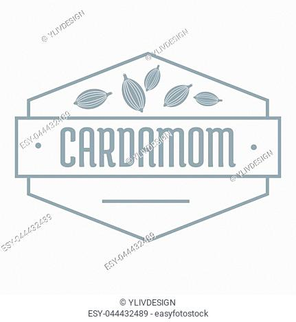 Cardamom logo. Simple illustration of cardamom logo for web
