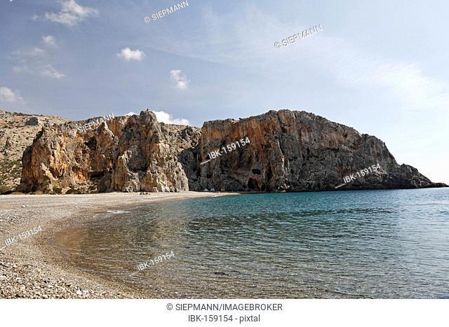 Beach at Agiofarango gorge, Southern Crete, Greece