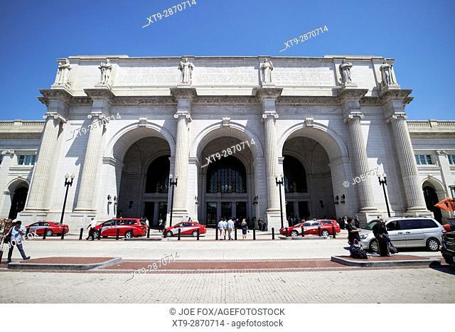 south entrance union station train station Washington DC USA