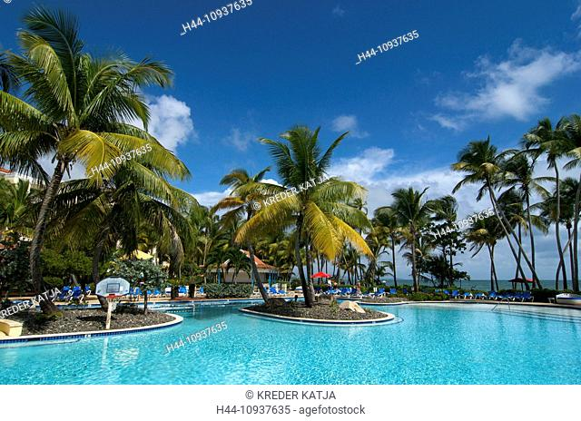 Puerto Rico, Caribbean, Greater Antilles, Antilles, Beach club Palmas de Mar, hotel pool, hotel pools, pool, pools, hotel, hotels, tourism, Swimming pool