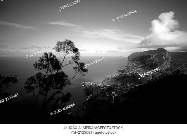 View of Madeira's north shore, near Porto da Cruz