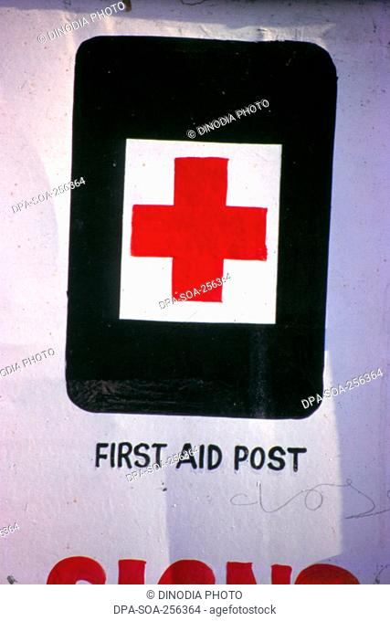 First aid sign, india, asia
