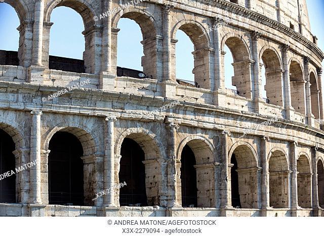The Roman Colosseum. Rome, Italy