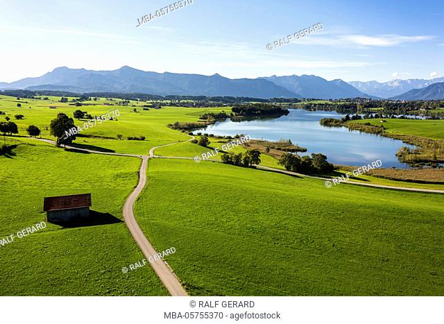 Riegsee in the Bavarian foothills of the Alps