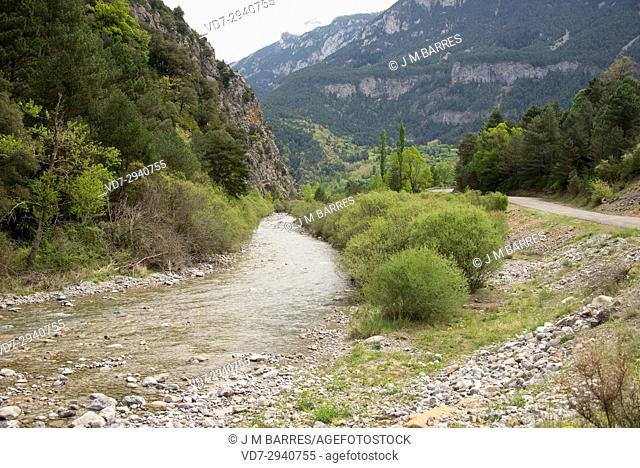 Cinqueta River in Chistau Valley. Posets Maladeta Natural Park, Sobrarbe, Huesca province, Aragon, Spain