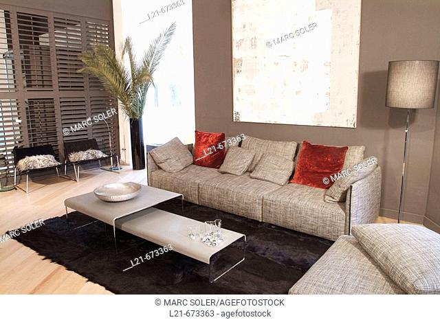 Modern interior. Living room