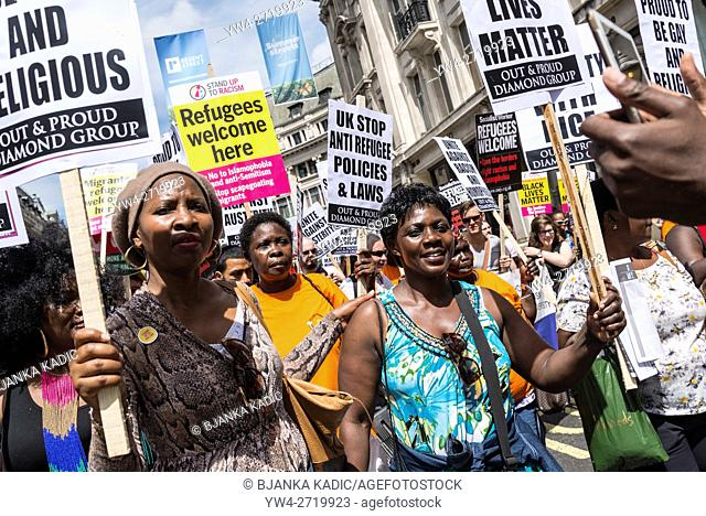 No More Austerity - No To Racism - Tories Must Go, demonstration organised by Peoples Assembly, Saturday July 16th 2016, London, United Kingdom, UK