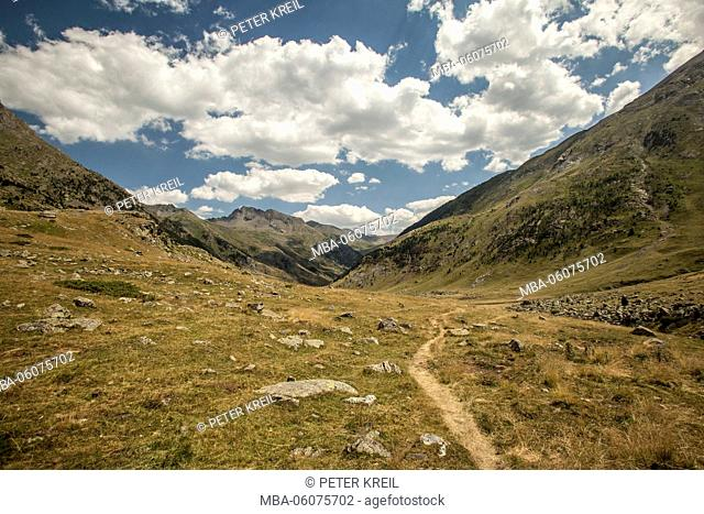 hiking path, mountain, hiking, trekking, landscape, GR11, Spain, Europe, the Pyrenees, tourism, alpine tour