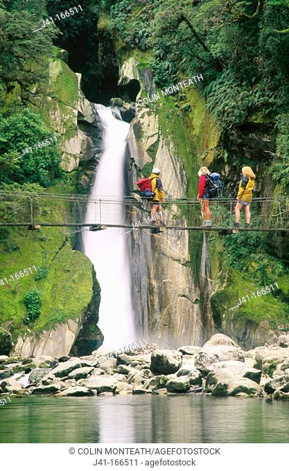 Giant's Gate Falls. Milford Track. Fiordland N.P. New Zealand