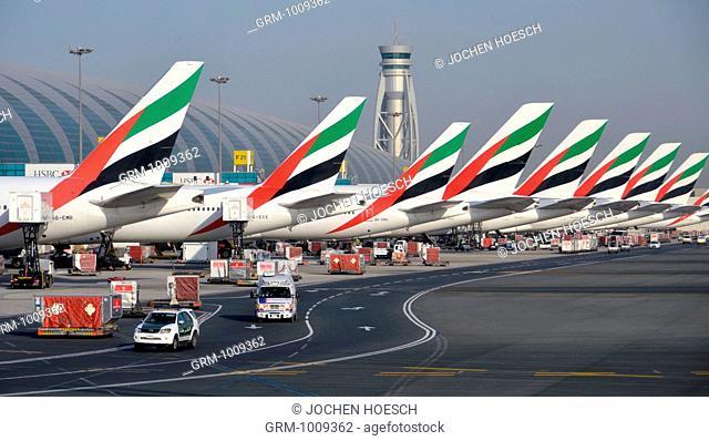 Dubai International Airport in United Arab Emirates