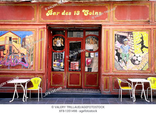 Picturesque café into the Panier district of Marseille Bouches du Rhone 13 PACA France Europe