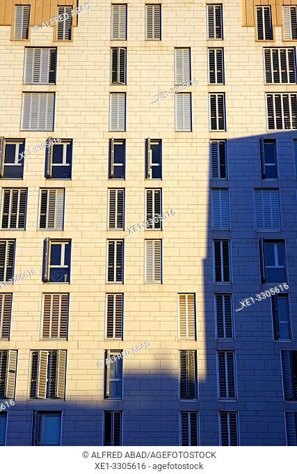apartment buildings, Barcelona, Catalonia, Spain
