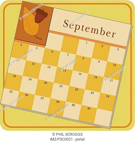 A calendar showing the month of September