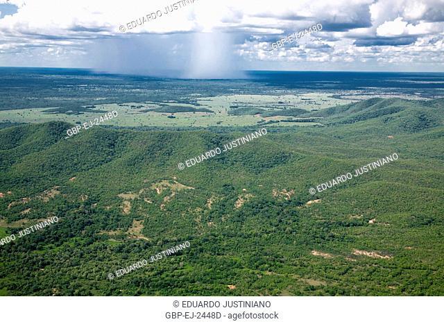 Precipitation, Rain, Maracaju Mountain, Mato Grosso do Sul, Brazil
