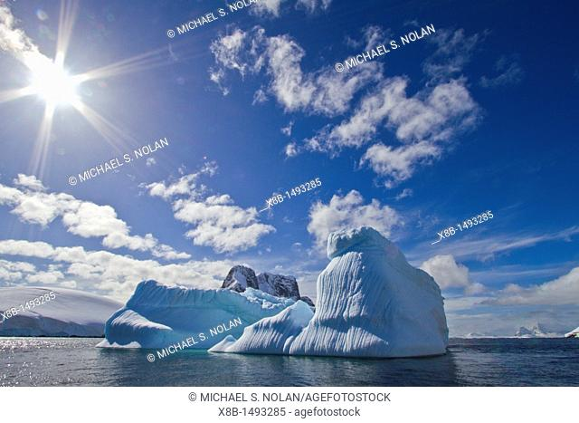 A view of Lemaire Channel on the west side of the Antarctic peninsula in Antarctica  MORE INFO Lemaire Channel is a strait off Antarctica