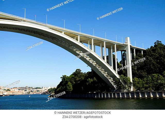 The Arrábida Bridge is an arch bridge over the Douro River that connects Porto to Vila Nova de Gaia, in Portugal