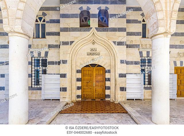 View of Kardesler(brothers)Mosque built in 1988,Sanliurfa,Turkey. 19 July 2018