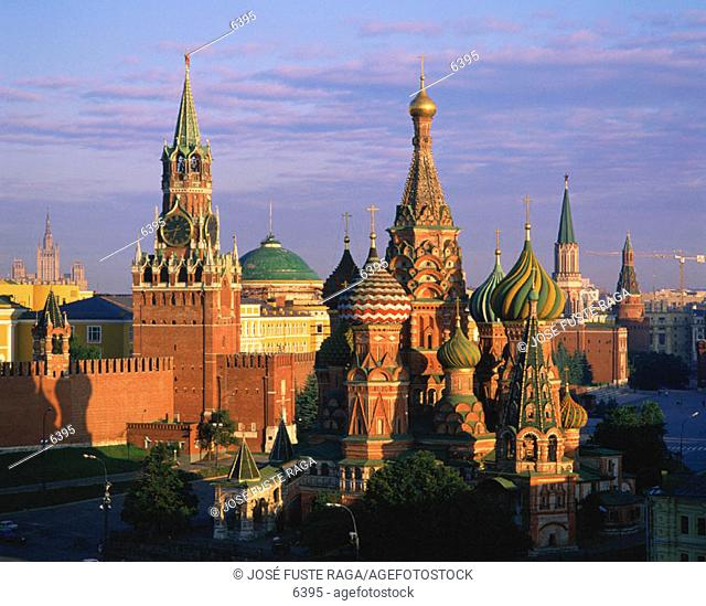St. Basil's Cathedral and Kremlin. Moscow. Russia