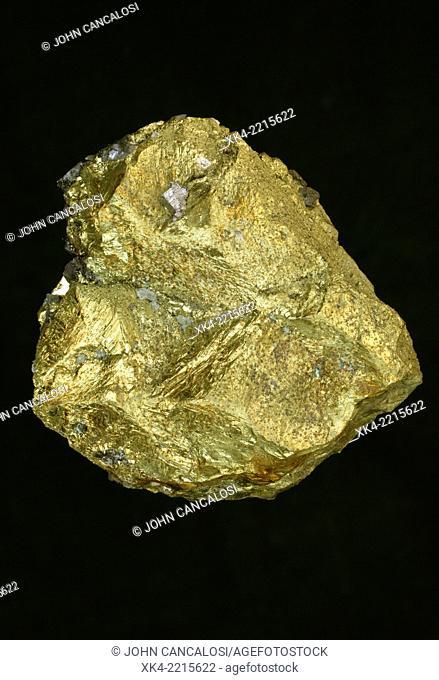 Chalcopyrite, main ore mineral of copper, Bulgaria