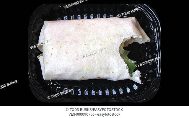 Time lapse of burrito being eaten