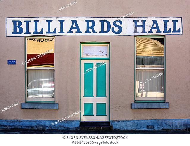 Billiard Hall in small country town. Chiltern, Victoria, Australia
