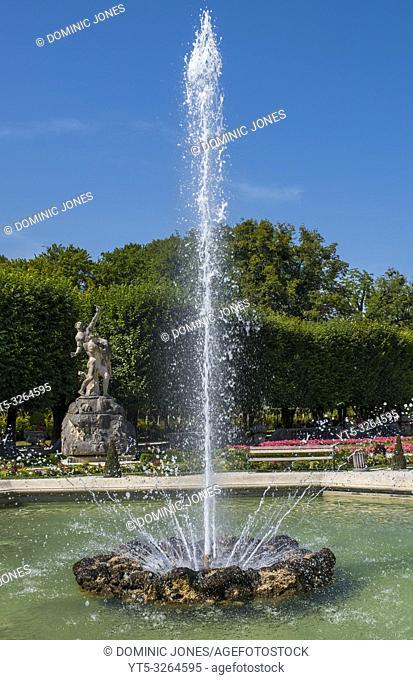 Mirabell Gardens in Salzburg, Austria, Europe