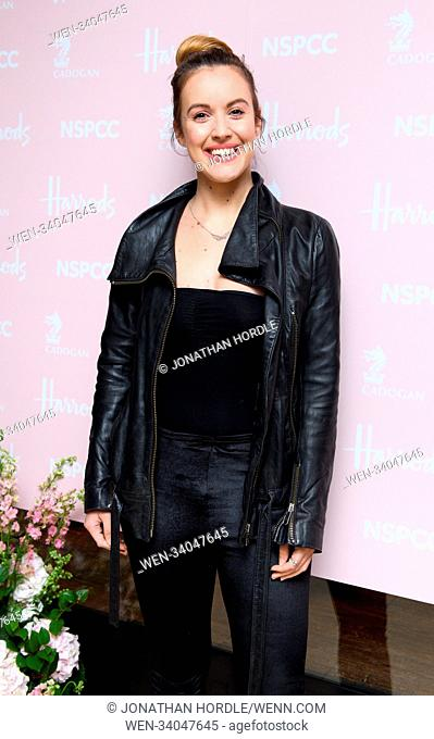 fashion retold pop up store in aid of the Nspcc Featuring: Charlie Webster Where: London, United Kingdom When: 12 Apr 2018 Credit: Jonathan Hordle/WENN