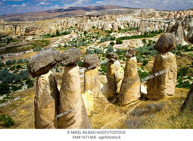 Fairy Chimneys  Cavusin  Cappadocia  Turkey