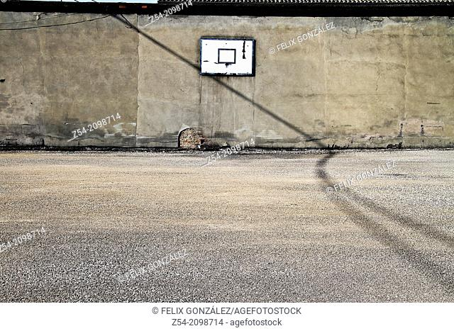 Old basketball playground