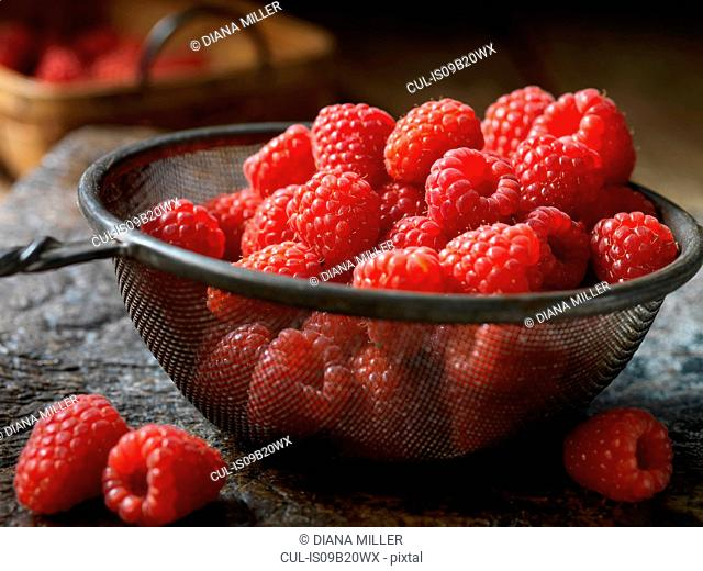 Fresh organic fruit, tulameen raspberries