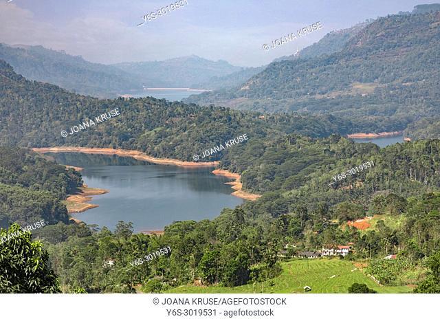 Kotmale Oya reservoir, Ramboda, Sri Lanka, Asia