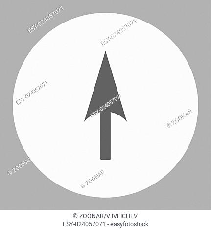 Arrow Axis Y flat dark gray and white colors round button