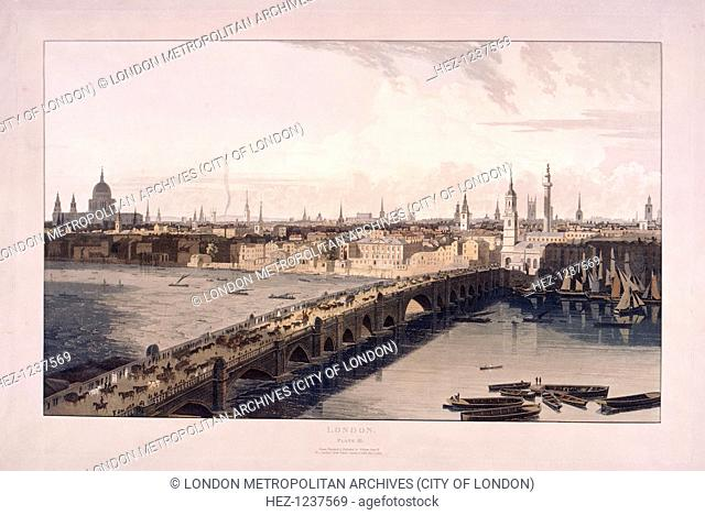 View of London Bridge and the City of London from Tooley Street, Southwark, 1804