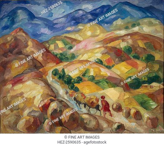 The Mountain Road, 1930-1931. Found in the collection of the State Museum of History, Architecture and Art New Jerusalem, Istra