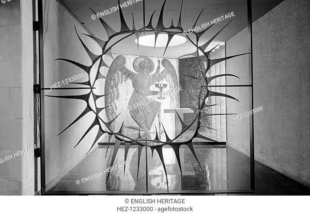 Gethsemane Chapel, Coventry Cathedral, Coventry, West Midlands, 1962-1980. The 'Crown of Thorns' screen by Sir Basil Spence (1907-1976) in the Gethsemane Chapel