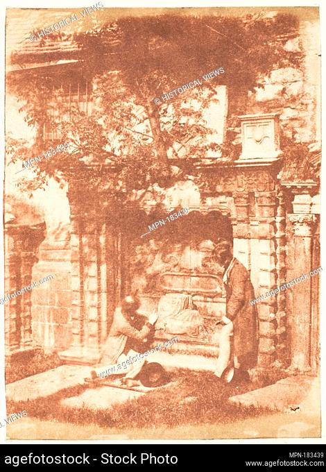Edinburgh. Greyfriars' Churchyard. Photography Studio: Hill and Adamson (British, active 1843-1848); Artist: David Octavius Hill (British, Perth