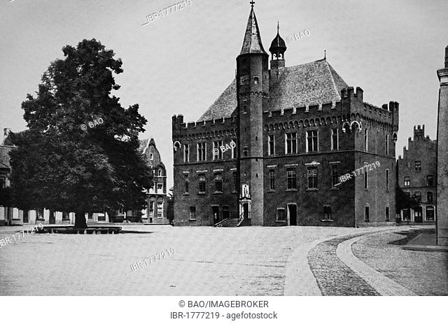 City hall of Kalkar, North Rhine-Westphalia, Germany, Europe, historical photograph, around 1899