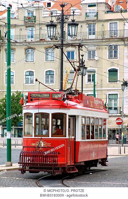 historical tram in Lisbon, Portugal, Lisbon