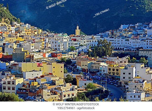 Sacred City Moulay Idris, Zerhoun Mountains, Middle Atlas, Morocco