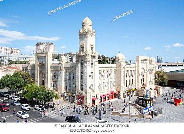 picture for Metro Building in Baku in Azerbaijan, its Characterized by a distinct architectural style and the Clock Tower