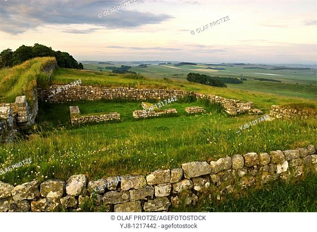 Dawn at the Hadrians Wall, Northumbria, North England