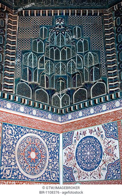 Mausoleum Kusam ibn Abbas, Shahr-I-Zindah or Shahi Sinda necropolis, Samarkand, UNESCO World Heritage Site, Uzbekistan