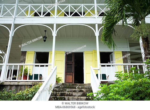 St. Kitts and Nevis, St. Kitts, Ottleys, Ottley's Plantation Inn, old sugar plantation now a hotel