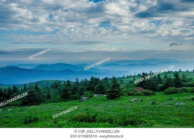Foggy Mountain as seen from Grassy Ridge