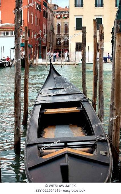 Venice - the deck of a venetian gondola