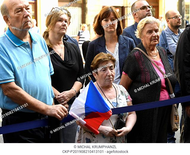 Act of reverence to honour the memory of people killed in August 1968 in defense of the Czech radio building, took place in front of the building in the...