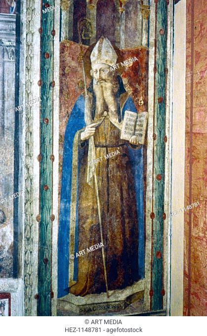 'St John Chrysostom', mid 15th century. St John Chrysostom (c347-407), Syrian priest and one of the Doctors of the Christian Church