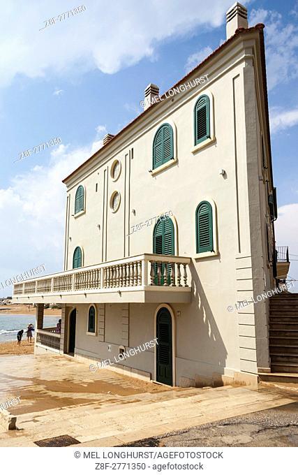 The house of fictional TV detective Inspector Montalbano, Punta Secca, Santa Croce Camerina, Sicily, Italy