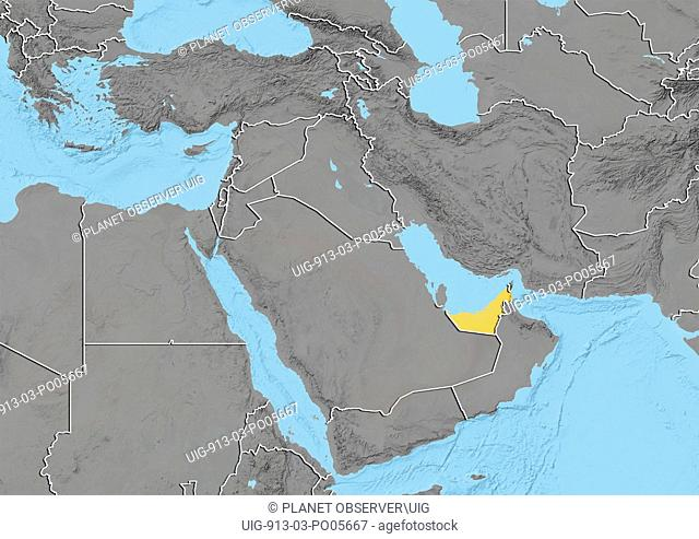 United Arab Emirates, Relief Map
