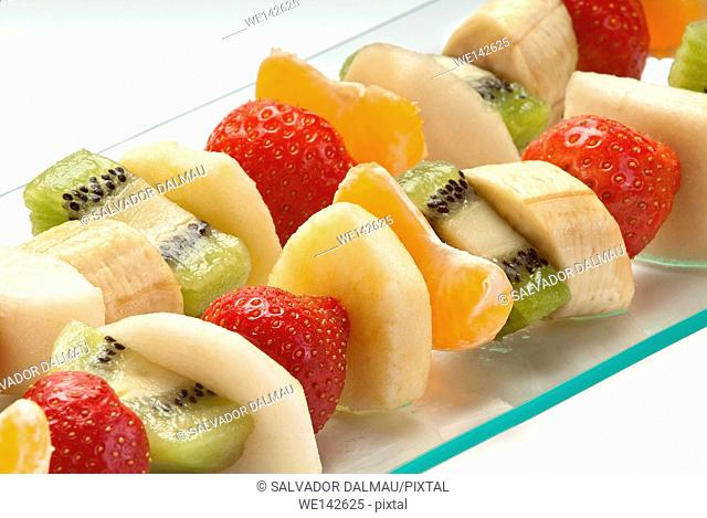 photography studio,fruit skewers,variety of fruits,location girona,catalonia,spain,europe,